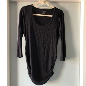 A Pea in the Pod Black Maternity Shirt Sz M